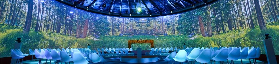 Maak uw presentatie indrukwekkender met panoramaprojectie